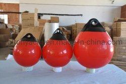 PVC grado marino en torno a una serie Boya Marcador de bola de guardabarros barco ancla de la ronda de la boya