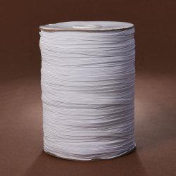 卸売5mmの白く平らな編みこみのゴム144yds/Bobbin