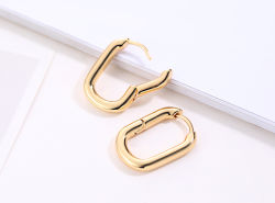 Instergram Plain Tarring Brass Silver Tarrings Fashion Jewellery