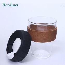350 ml dubbelwandige beker met glazen beker en hoog borosilicaat Mok Cup-mok voor reismok van 125 ml, koffiekop met siliconen deksel En huls