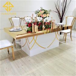 레스토랑 호텔 웨딩 이벤트를 위한 현대적인 럭셔리 테이블 의자 세트 홈 연회장 파티 사용