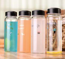 Настраиваемые 300мл 400ml 750 мл 1000 мл стеклянной бутылки Flint портативный бутылки стеклянные бутылки для напитков