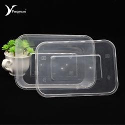Claro desechables rectangular de plástico PP Contenedor de almacenamiento de alimentos