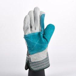 La sicurezza di colori protegge i guanti di cuoio duri dei guanti del lavoro dell'operaio del giardiniere