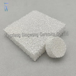 Piatto di ceramica del filtrante della gomma piuma della fonderia di alluminio materiale del filtro di ceramica dalla gomma piuma/isolamento termico