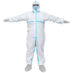 Vestuário de protecção para utilização civil vestuário de isolamento de Casquilhos inteiriços, Full-Body Tampa espessadas e utilização repetida vestido de isolamento