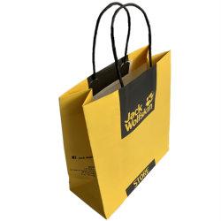 Bolsa de papel de impresión CMYK Twist manejar el medio ambiente en el bolso Wholesale