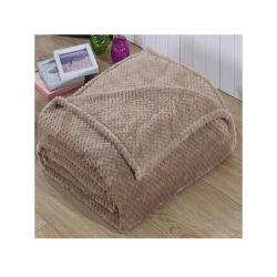 明白な珊瑚の羊毛か編まれた赤ん坊毛布