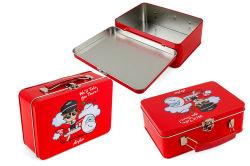 도매 맞춤형 틴메탈 런치 박스(Tin Metal Lunch Box for Storage and Tin) 여행 가방 상자