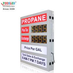 بيع ساخن لعلامة لوحة PCB على محطة الغاز LED الصفراء مقاس 6 بوصات شاشة عرض سعر الزيت LED