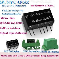 28VDC入力ループによって動力を与えられるシグナル装置への小型4-20mAアナログ信号の広い範囲の電圧8.5