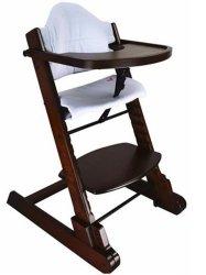 고품질 조절 가능한 높이 아기 앉기 높은 의자 접이식 솔리드 아이들을 위한 우드 먹이 음식
