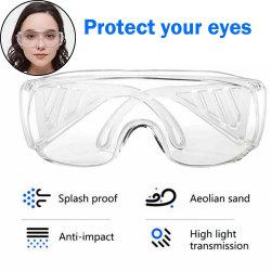 La sécurité de protection Goggle Crystal Clear Anti-Fog la résistance au choc de l'Objectif Ce approuvé