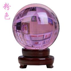 كريستال بياد جلاس لون الخرزة كريستال بول جودة عالية، نعومة عالية زخارف منزلية شفافة من الكأس المستديرة الزجاجية 30 مم