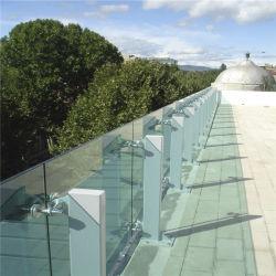 Modernes Glasgeländer und Aluminium-Pfosten-Glasgeländer