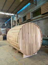 Contra o novo coronavírus Cylindric Cedar Sauna Prefab House