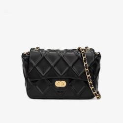 新しいランプ固体色の正方形の女性は袋鎖の女性を財布 スリング・クロスボディ袋の方法革女性の肩のハンドバッグ