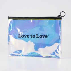 Sinicline logotipos personalizados impresos Diseño moda bolsa de plástico Zipper Holograma