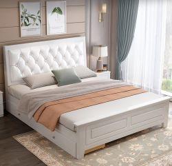 2011년 새로운 스타일의 솔리드 우드 싱글 베드, 심플한 유럽 스타일 부드러운 더블 침대