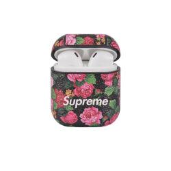 Lindo Llavero de silicona de patrón de cajas de protección de la piel cubierta diseñada para Airpod 1 y 2 Mujeres Hombres