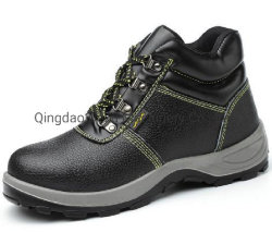 أفضل سعر من جلد PU Sole الأصلي عالي السلامة عند الكاحل أحذية للصناعة الثقيلة تستخدم