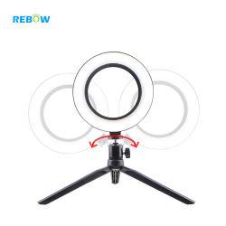 "10 "" Canon를 위한 삼각 Selfie 지팡이 반지 테이블 충분한 양 빛을%s 가진 Dimmable LED 스튜디오 사진기 반지 빛 사진 전화 영상 가벼운 램프"