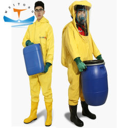 Тяжелого типа ПВХ для всего тела или антивирусное костюм химической защиты химических защитную одежду