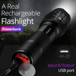 LED-Gewitterleuchte Abay Xml T6 Linterna Modi der Fackel-18650 der Batterie-5 imprägniern im Freien kampierende leistungsfähige LED-Taschenlampe