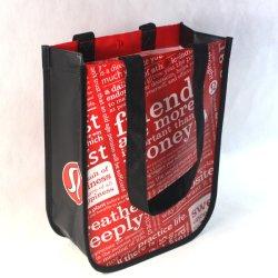 Design personalizado não tecidos estratificados Saco Sacola de Compras promocionais
