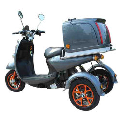 Пицца транспорта Trike электрический скутер с окно для доставки