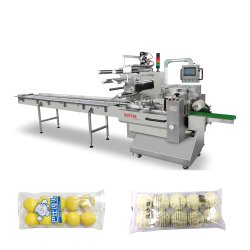 Les emballages en plastique pour le débit vapeur congelés Bun Pack machine de conditionnement Semi-automatique
