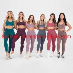 Sport-Eignung-Klage-nahtloses Haifisch-Gamaschen-Strappy Sport-Büstenhalter-Yoga-gesetzte Sportkleidung-Trainings-Gymnastik-Kleidung