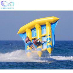 Populaires de la banane gonflable prix d'usine Fly poisson gonflable tractable Flying Fish jouets d'eau pour l'eau de l'Amusement