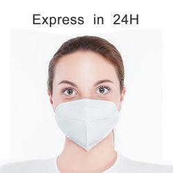 Het in het groot Masker van het Gezicht van het Ademhalingsapparaat van het AntiVirus van het Stof van 5 Laag Beschikbare Gezichts Beschermende KN95 FFP2 N95