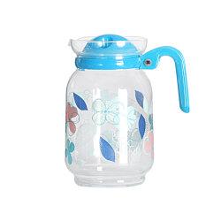 1,5 л стеклянный кувшин для холодной воды с крышкой, обработанных питьевой кувшин с Costumized в стиле Арт Деко