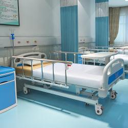 A3K Metal 3 датчика положения коленчатого вала 3 функции регулируемого медицинская мебель складная пациента вручную кормящих больничной койке с самоустанавливающимися колесами