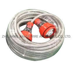 SAA 15A 3 Core 2,5 мм для тяжелого режима работы Австралийских стандартных Водонепроницаемый для использования вне помещений промышленных экранирующая оплетка удлинительный кабель с вилкой