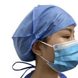 Os homens personalizado de 45 g Hospital não tecido SMS Bouffant isolamento protetor cirurgião de cabeça esfoliante cobertura médica grossista Hat Tampa cirúrgica descartáveis para o médico e enfermeiro