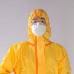 PP no tejido microporoso de SMS/PE radiación anti polvo químico mono desechable traje de protección de la ropa de protección de los trabajadores para la fábrica.