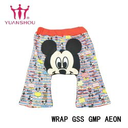 Garota de moda de algodão personalizados/Rapaz/criança/Kids/lactente/bebês/crianças tecidos para vestuário de calças de impressão da marca do grupo