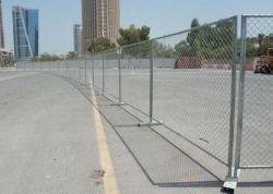 Съемные на строительной площадке с возможностью горячей замены оцинкованной DIP временные звено цепи ограды с базы