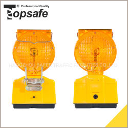 S-1317 Cor Âmbar Barricada Solar Luz de Aviso para Barricada de Estrada