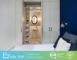 Estilo moderno parede divisória quarto porta armários para roupa