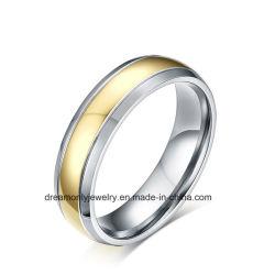 De goud Geplateerde Juwelen van de Ring van het Titanium