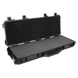 El Polvo Rushproof impermeable resistente al aire libre equipo impermeable de plástico duro arma larga con las ruedas en caso de tormenta y la espuma