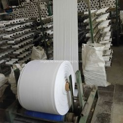Weißes Plastikröhrenpolypropylen gesponnenes Raffiabast-Gewebe