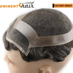 Kant Front Human Hair Hair Replacement System voor heren