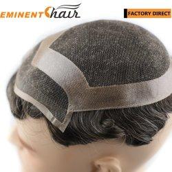 Lace Front de cabelo humano o cabelo masculino sistema de substituição