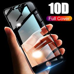 Protezione dello schermo di vetro Tempered delle Anti-Impronte digitali del coperchio completo 9h 10d per il iPhone