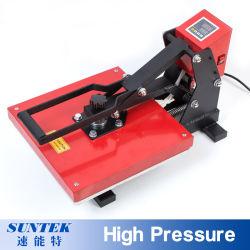 Футболка с высоким давлением тепловой сублимации красителей нажмите кнопку Transfer печатной машины